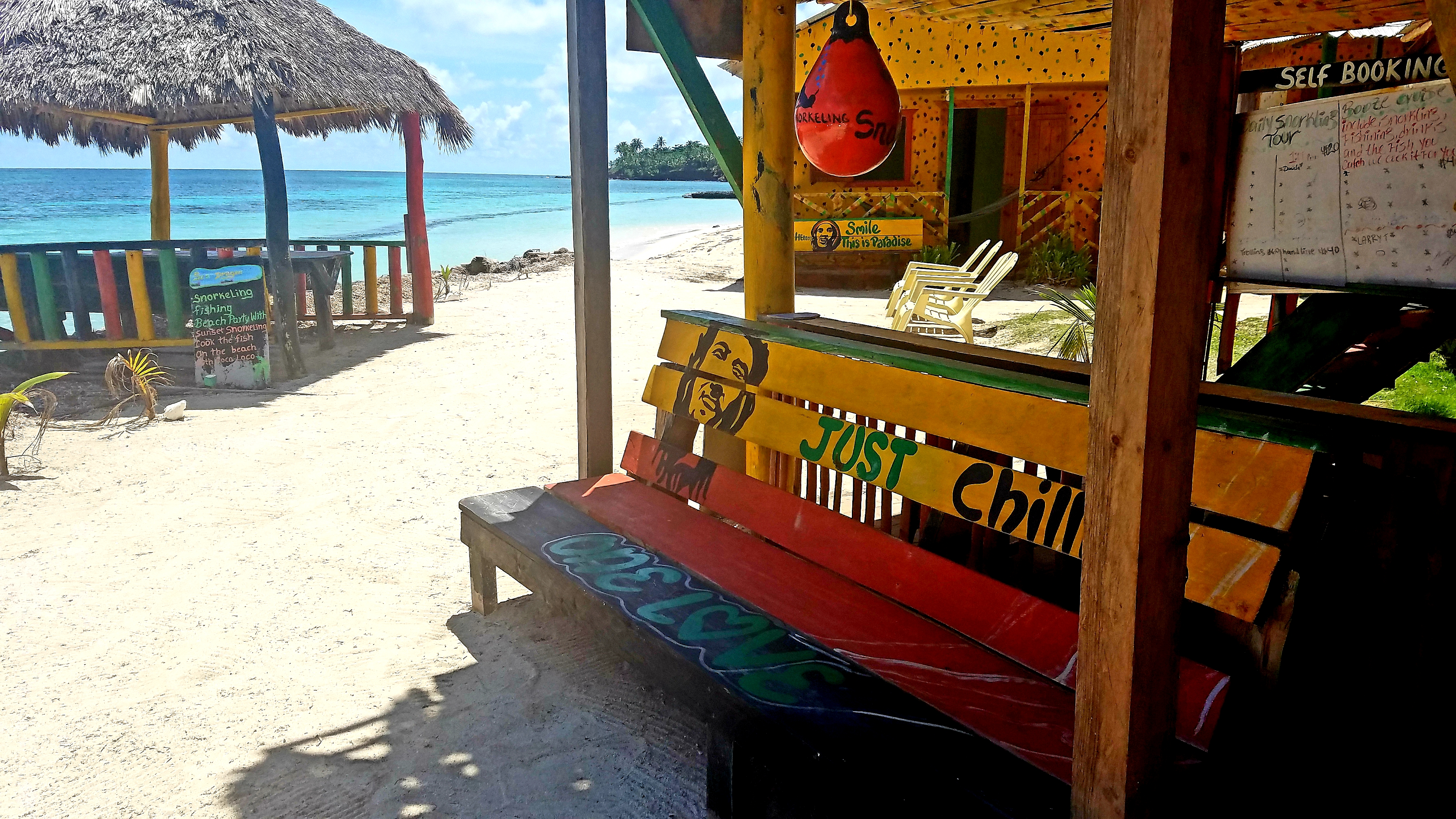 Graces place little corn island bench just chill