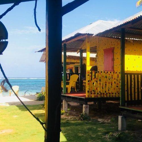 Little Corn Island cabins on beach